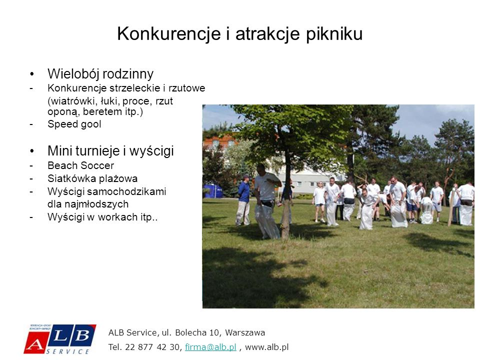Konkurencje i atrakcje pikniku