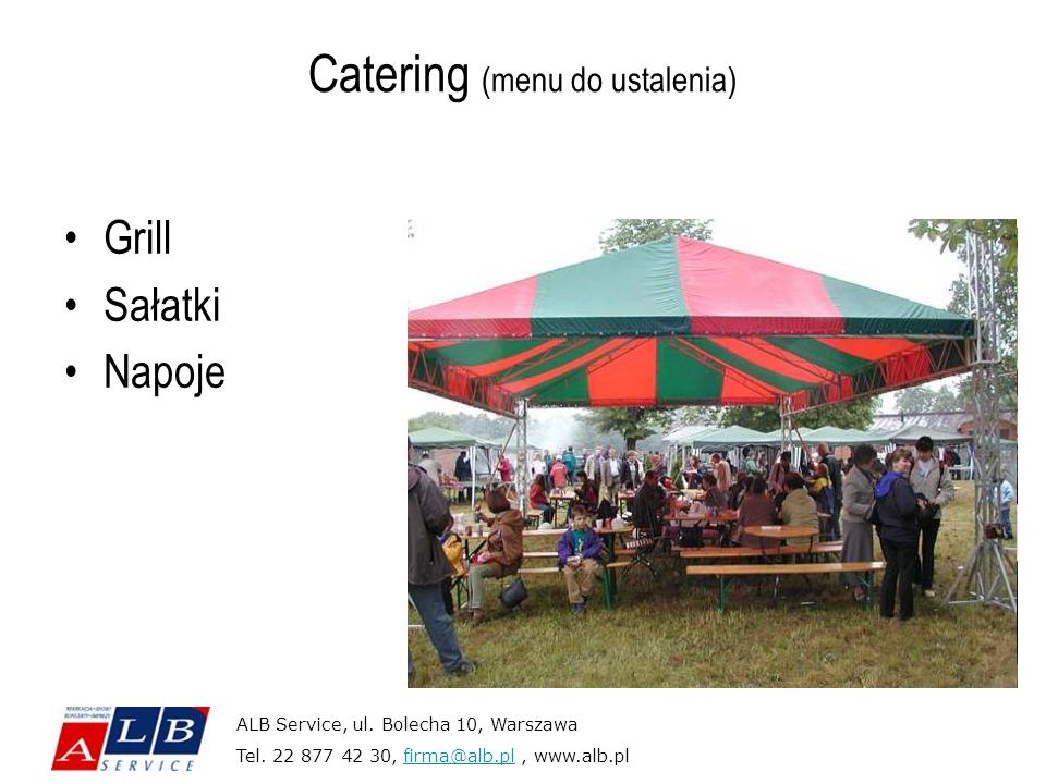 Catering (menu do ustalenia)