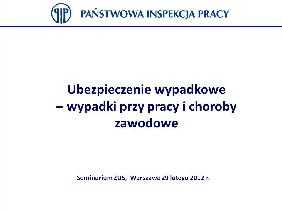 Ubezpieczenie wypadkowe Seminarium ZUS, Warszawa 29 lutego 2012 r.