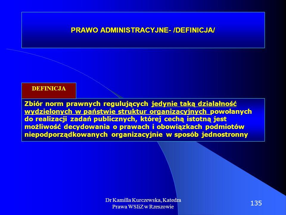 PRAWO ADMINISTRACYJNE- /DEFINICJA/