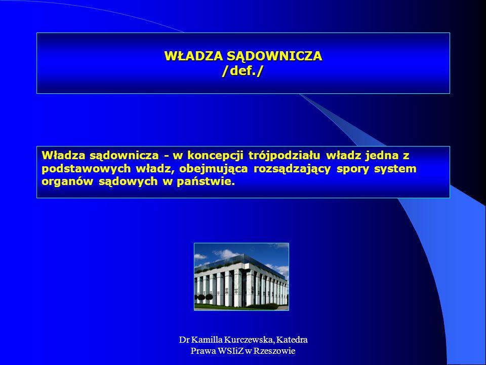 WŁADZA SĄDOWNICZA /def./