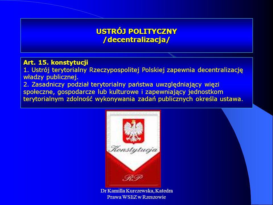 USTRÓJ POLITYCZNY /decentralizacja/