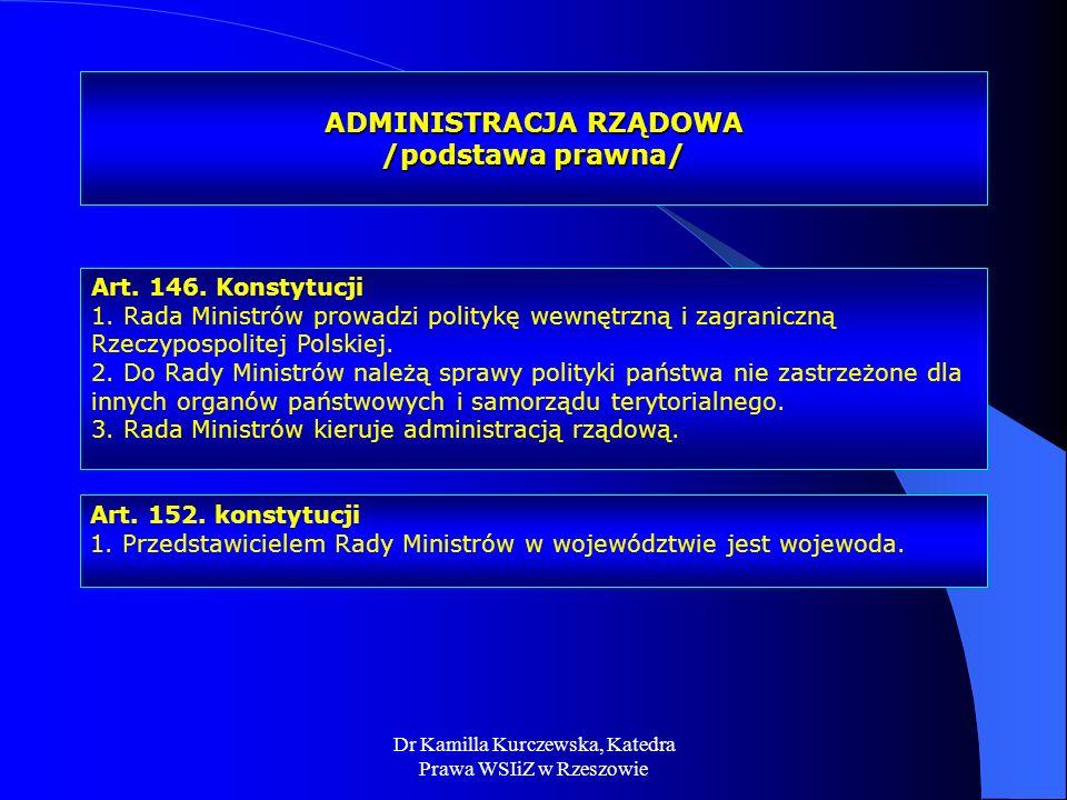 ADMINISTRACJA RZĄDOWA /podstawa prawna/