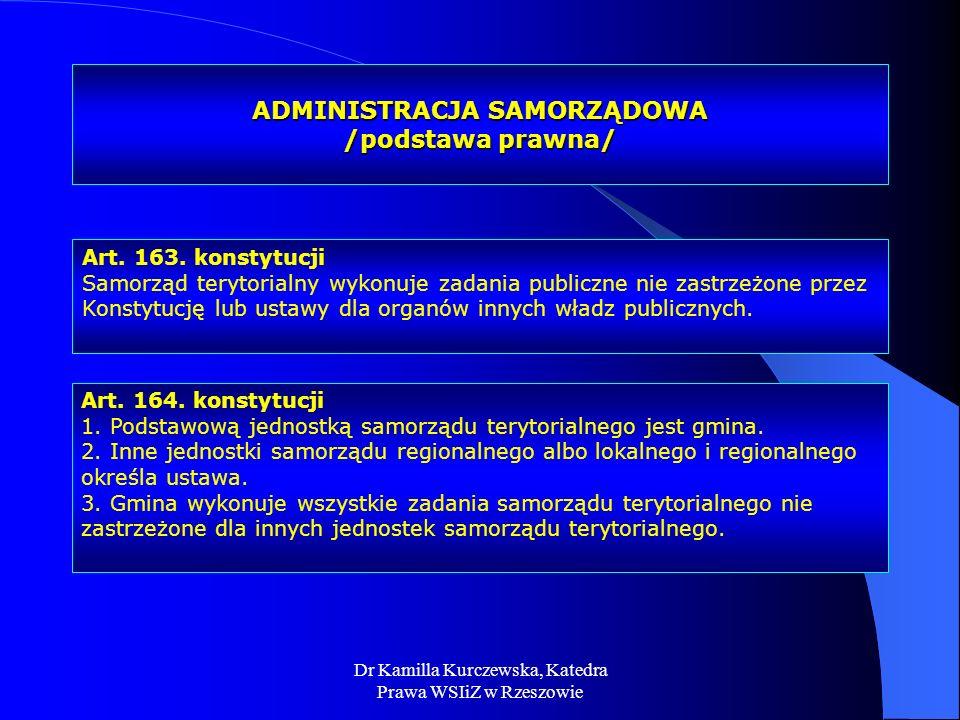ADMINISTRACJA SAMORZĄDOWA /podstawa prawna/