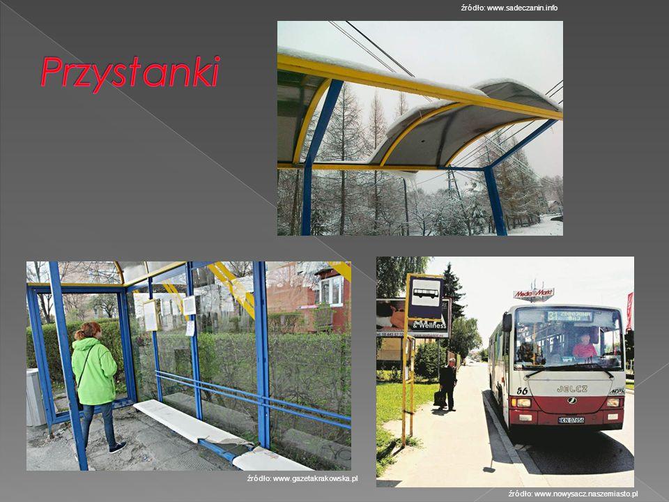 Przystanki źródło: www.sadeczanin.info źródło: www.gazetakrakowska.pl