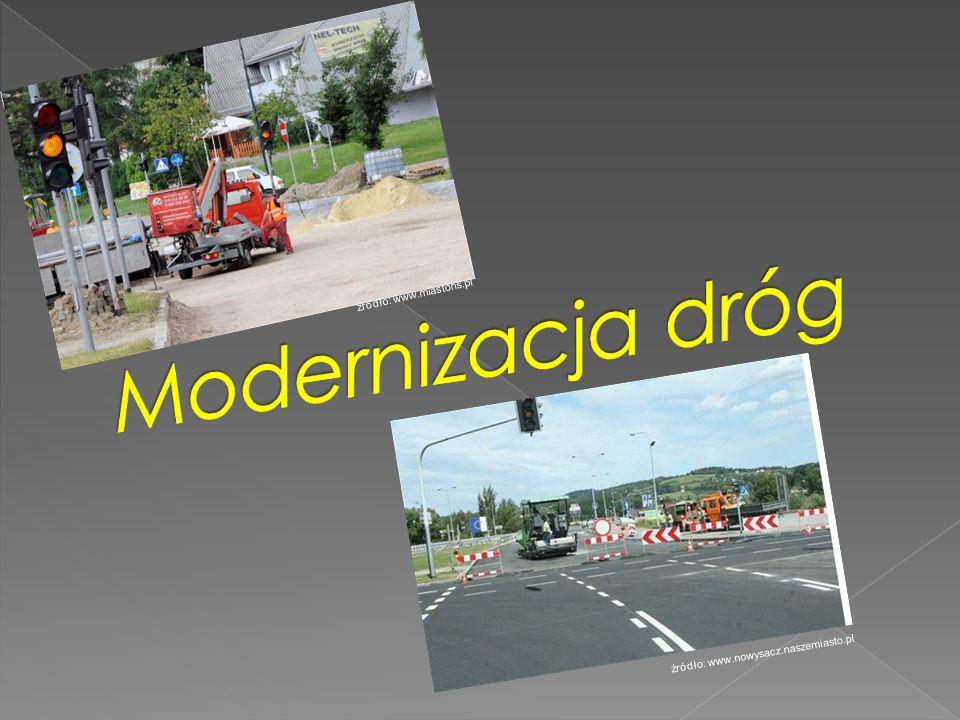 Modernizacja dróg źródło: www.miastons.pl
