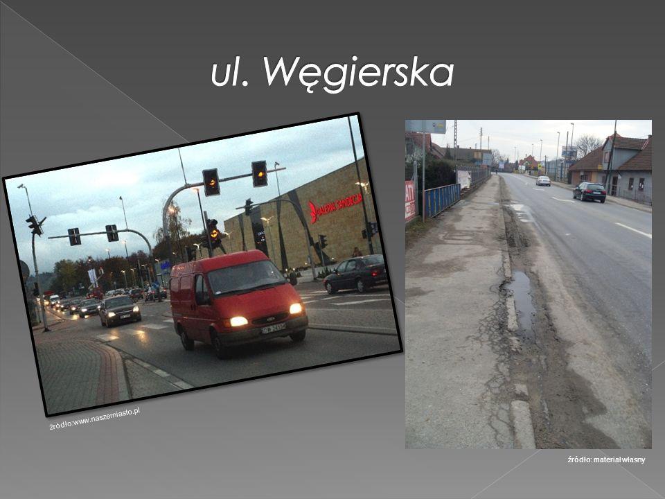 ul. Węgierska źródło:www.naszemiasto.pl źródło: materiał własny