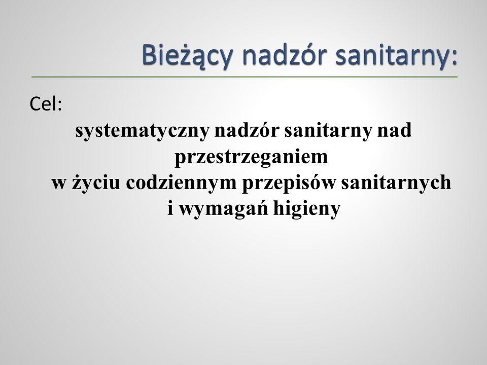 Bieżący nadzór sanitarny:
