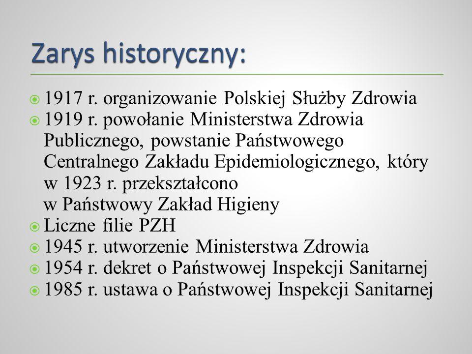 Zarys historyczny: 1917 r. organizowanie Polskiej Służby Zdrowia