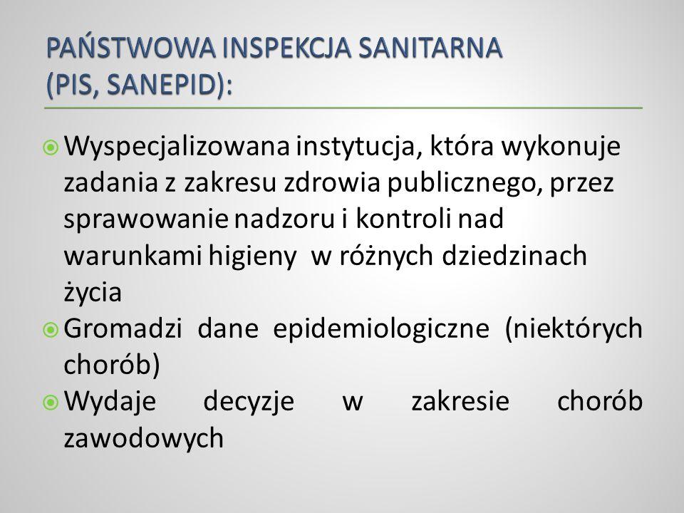 PAŃSTWOWA INSPEKCJA SANITARNA (PIS, SANEPID):