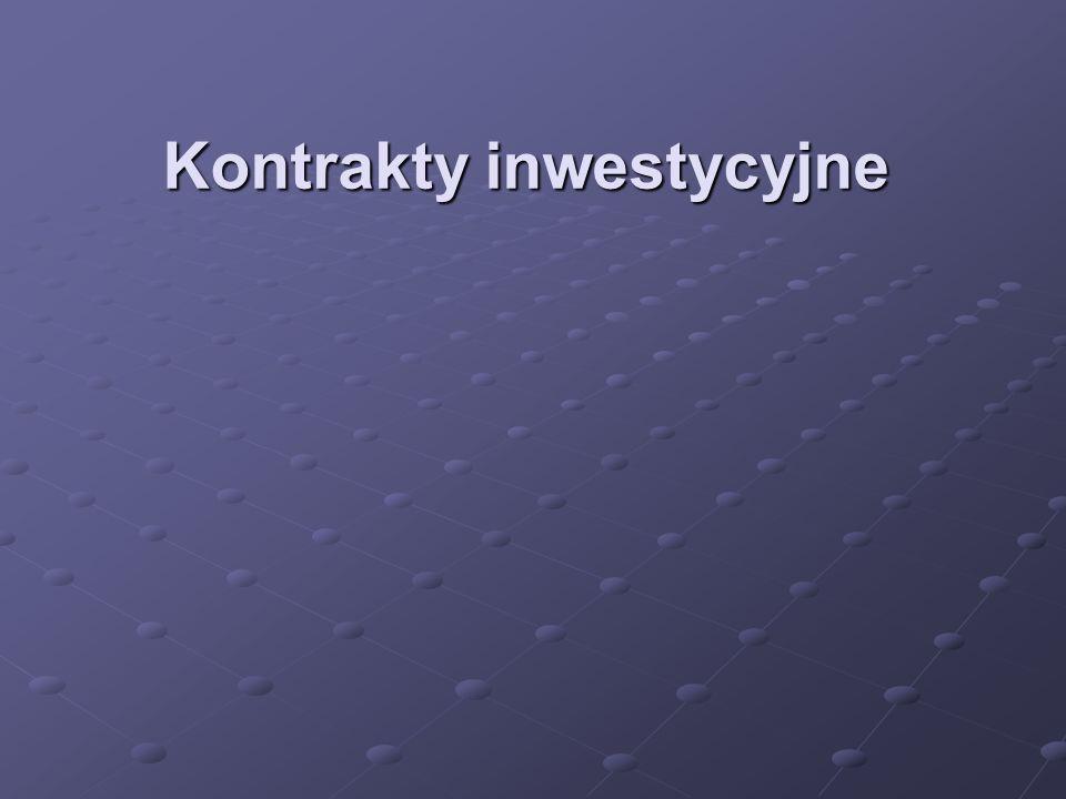 Kontrakty inwestycyjne