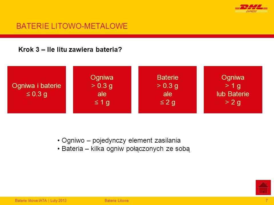 BATERIE LITOWO-METALOWE