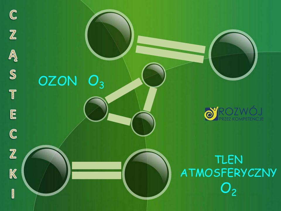 CZĄSTECZKI OZON O3 TLEN ATMOSFERYCZNY O2