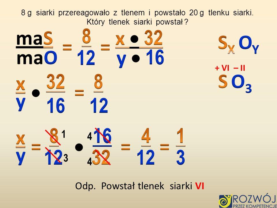 8 maS x  32 SX OY = = maO 12 y  16 32 8 S O3 x  = y 16 12 8 16 4 1
