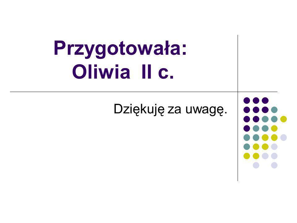 Przygotowała: Oliwia II c.
