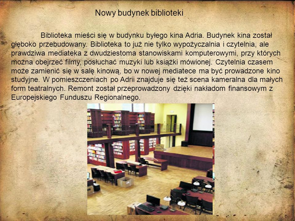 Nowy budynek biblioteki