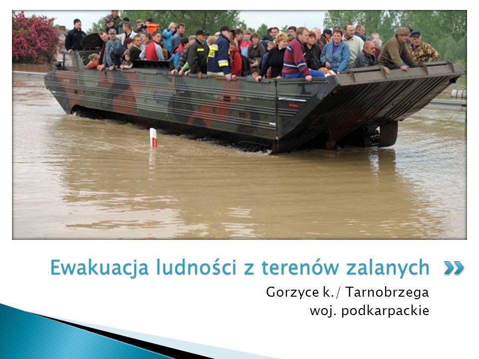 Ewakuacja ludności z terenów zalanych