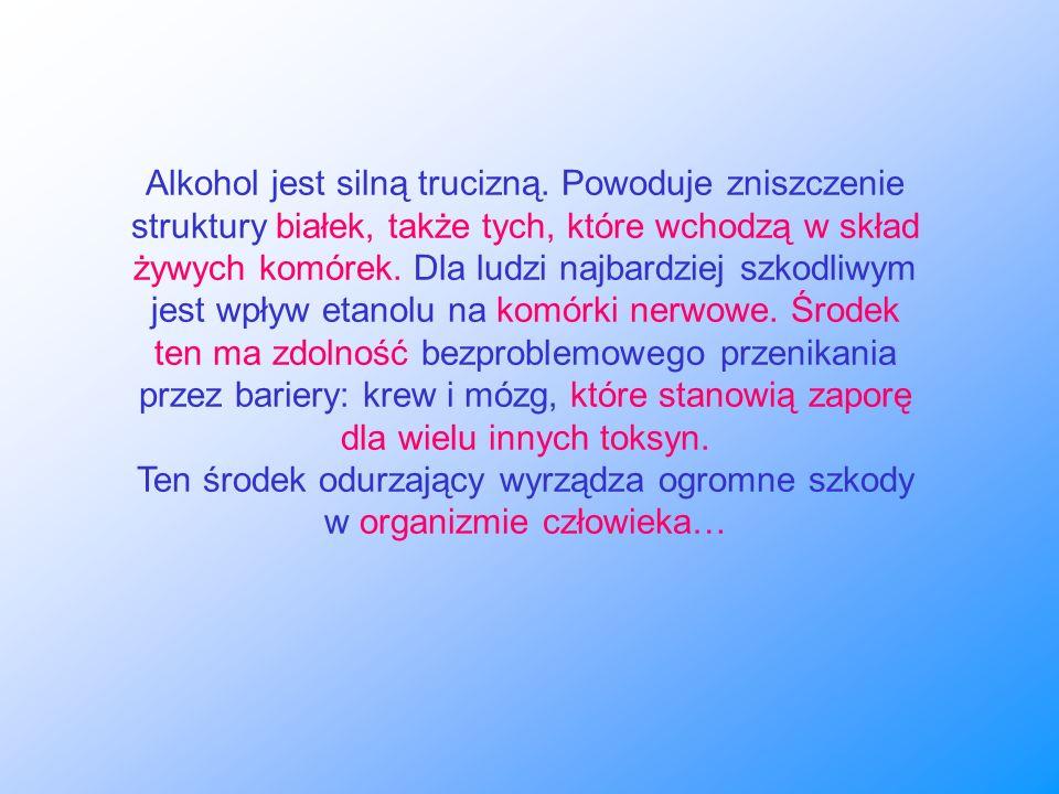 Alkohol jest silną trucizną