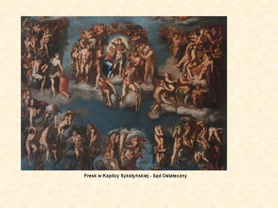 Fresk w Kaplicy Sykstyńskiej - Sąd Ostateczny