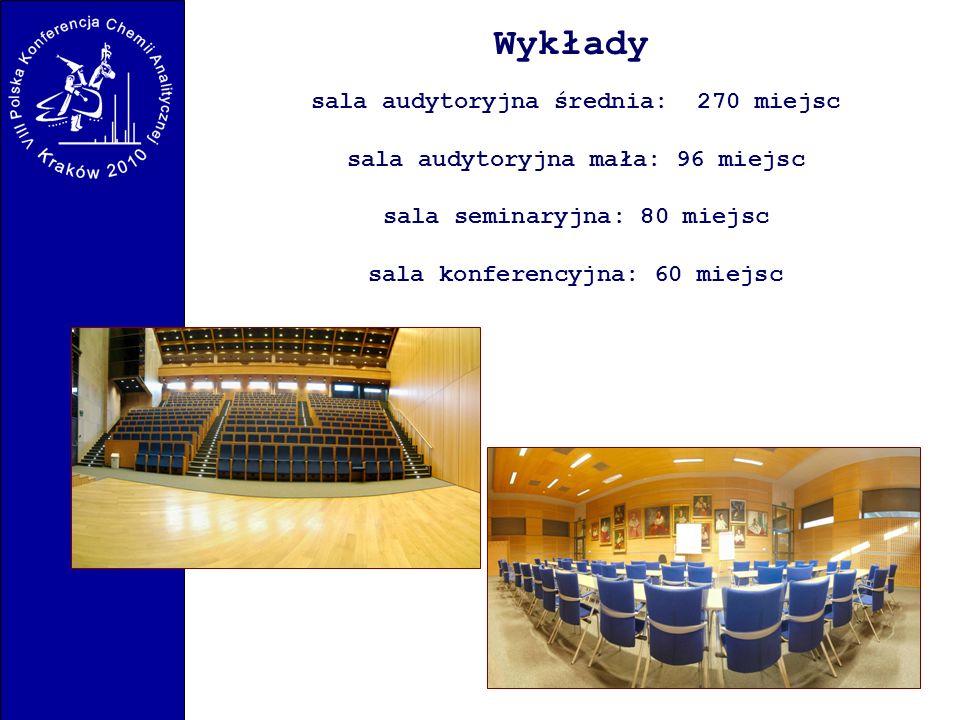 Wykłady sala audytoryjna średnia: 270 miejsc
