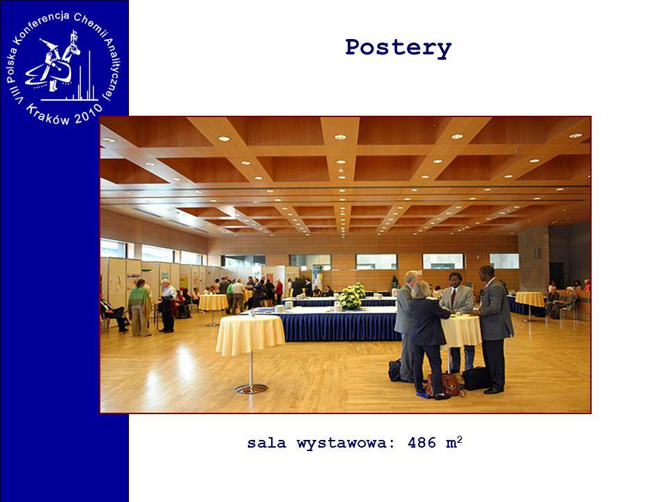 Postery sala wystawowa: 486 m2