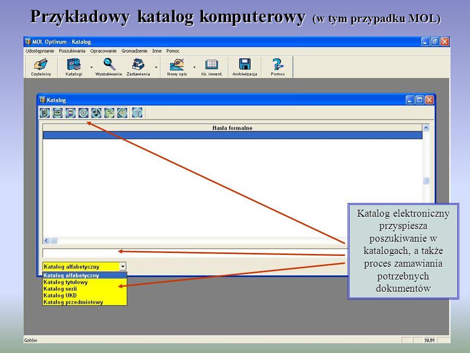 Przykładowy katalog komputerowy (w tym przypadku MOL)