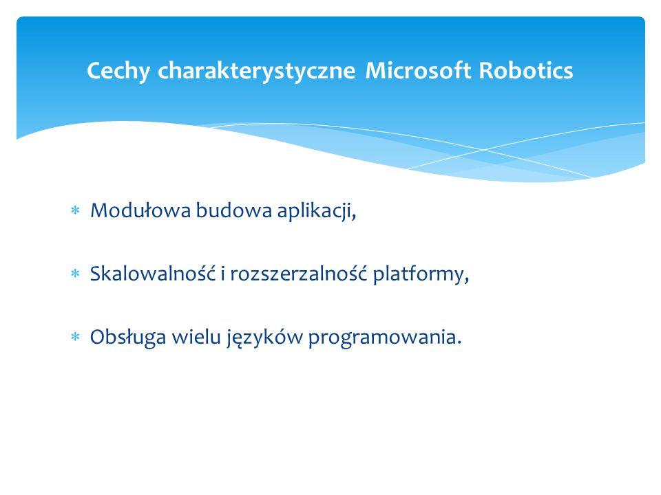 Cechy charakterystyczne Microsoft Robotics