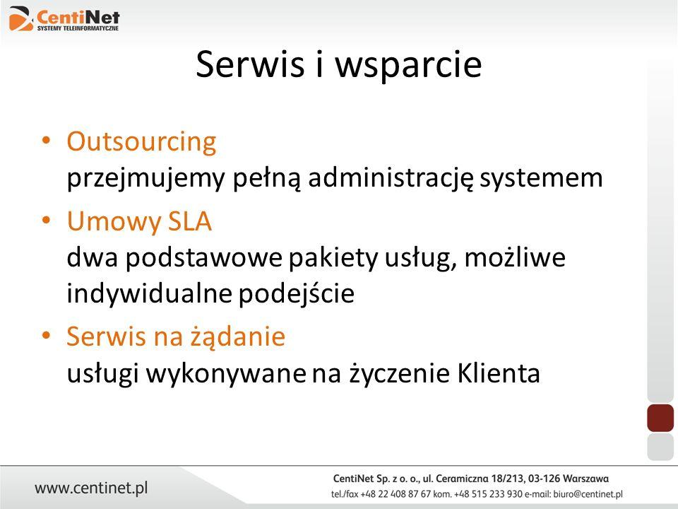 Serwis i wsparcie Outsourcing przejmujemy pełną administrację systemem