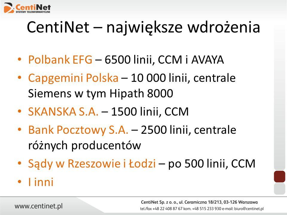 CentiNet – największe wdrożenia