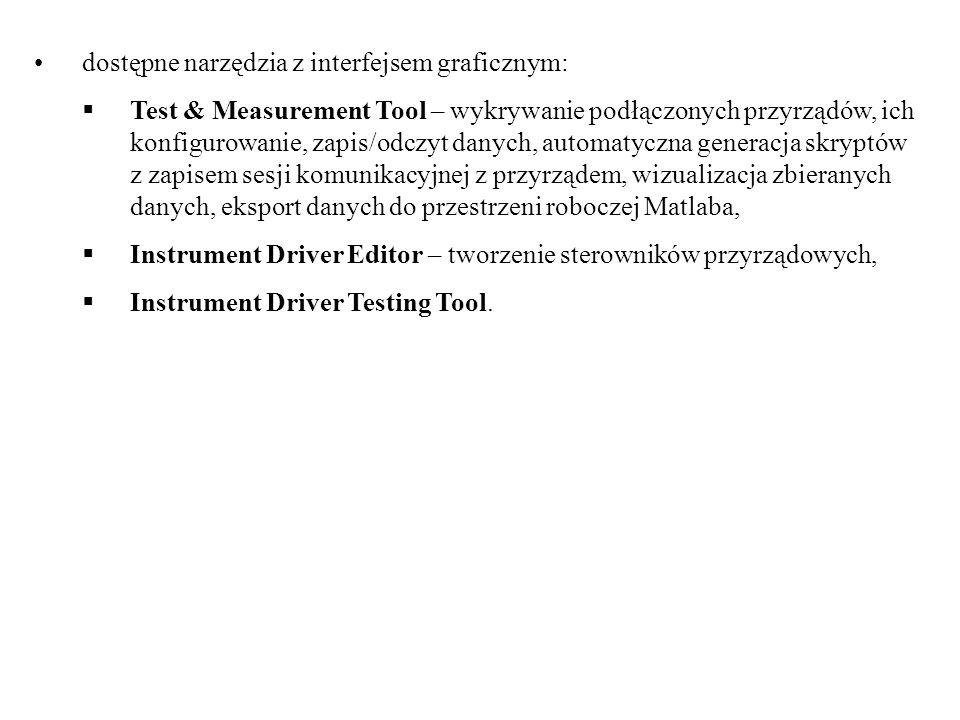 dostępne narzędzia z interfejsem graficznym: