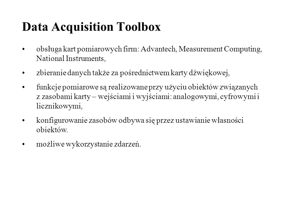Data Acquisition Toolbox