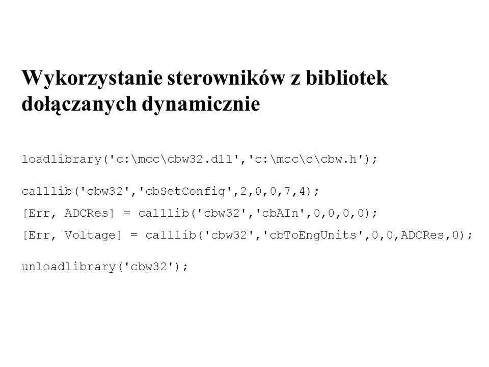 Wykorzystanie sterowników z bibliotek dołączanych dynamicznie