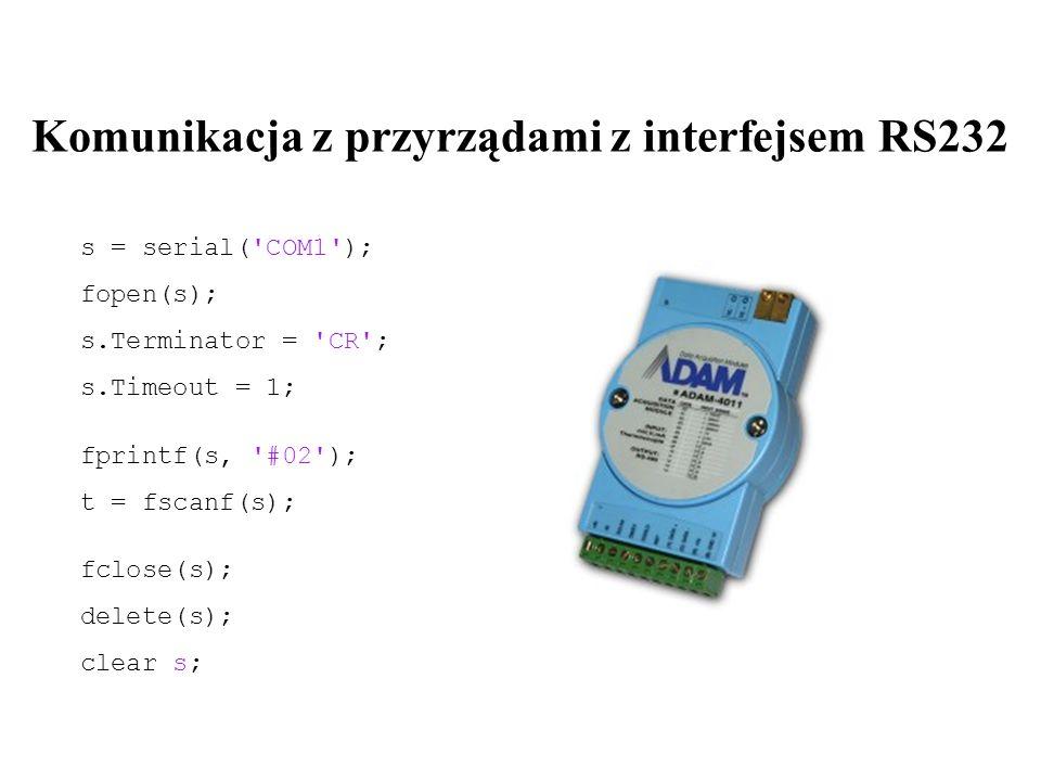Komunikacja z przyrządami z interfejsem RS232