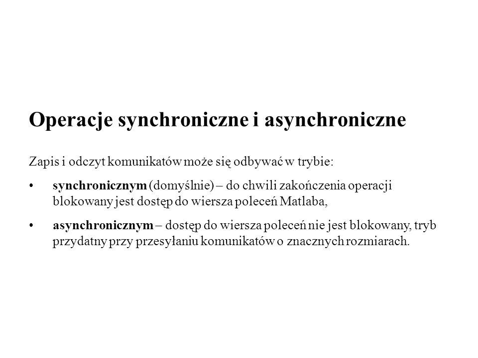 Operacje synchroniczne i asynchroniczne