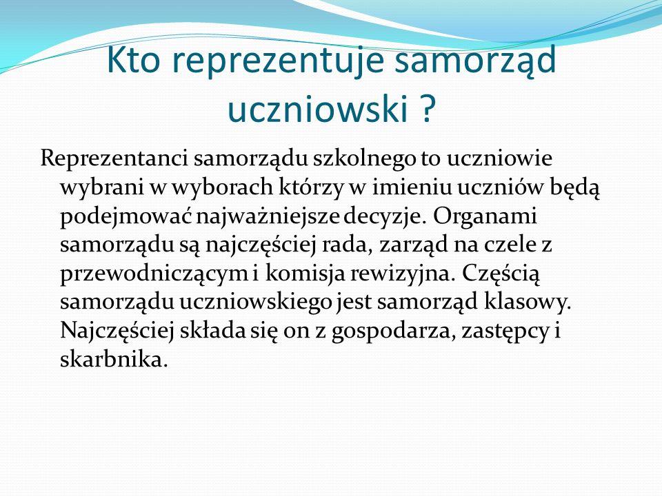Kto reprezentuje samorząd uczniowski
