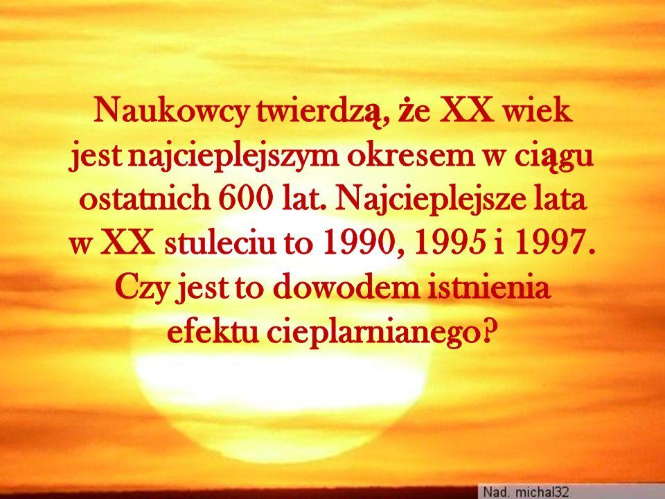 Naukowcy twierdzą, że XX wiek jest najcieplejszym okresem w ciągu ostatnich 600 lat.