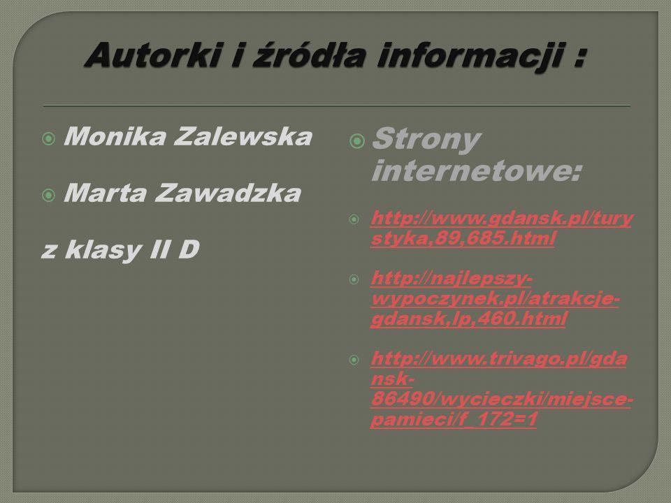 Autorki i źródła informacji :