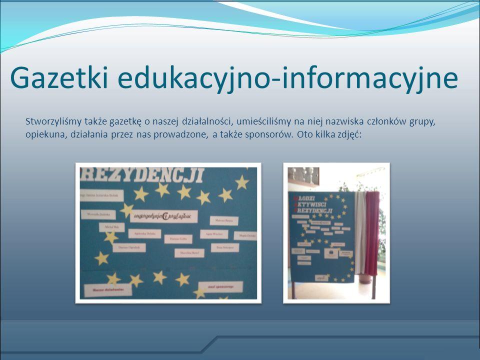 Gazetki edukacyjno-informacyjne