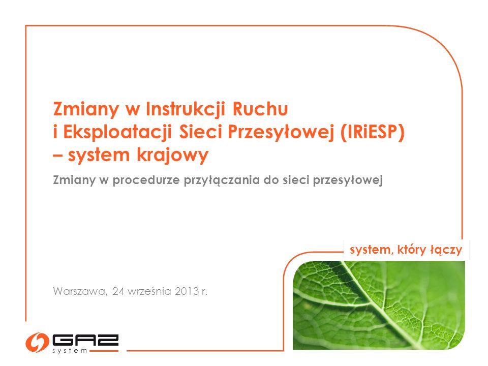 Zmiany w Instrukcji Ruchu i Eksploatacji Sieci Przesyłowej (IRiESP)