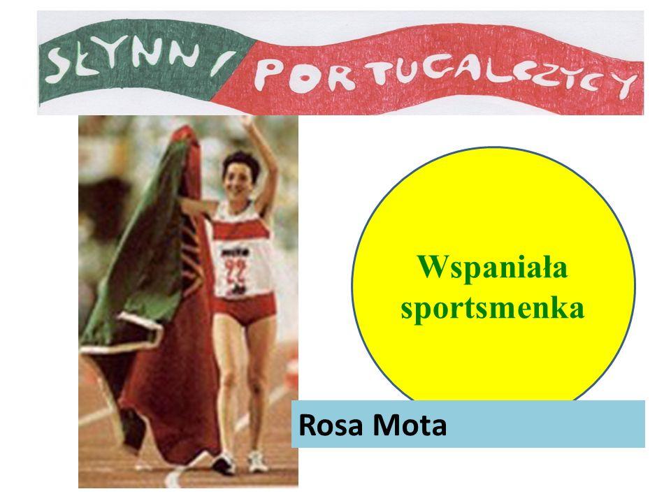 Wspaniała sportsmenka Rosa Mota