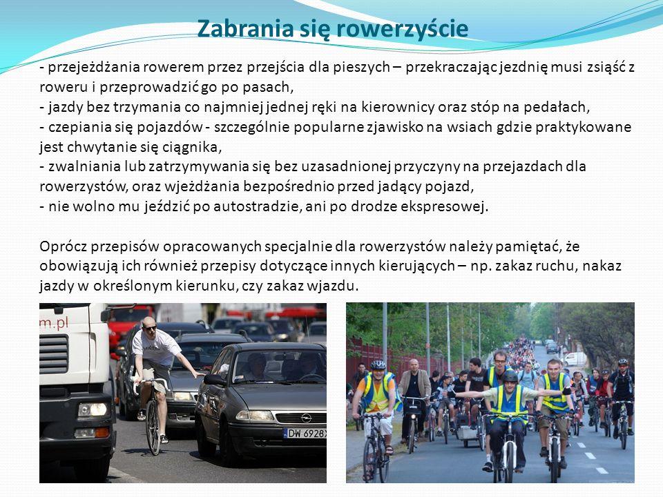 Zabrania się rowerzyście