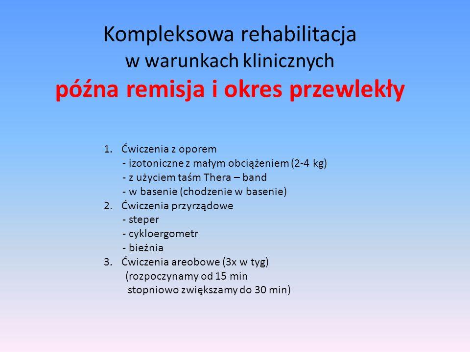 Kompleksowa rehabilitacja w warunkach klinicznych późna remisja i okres przewlekły
