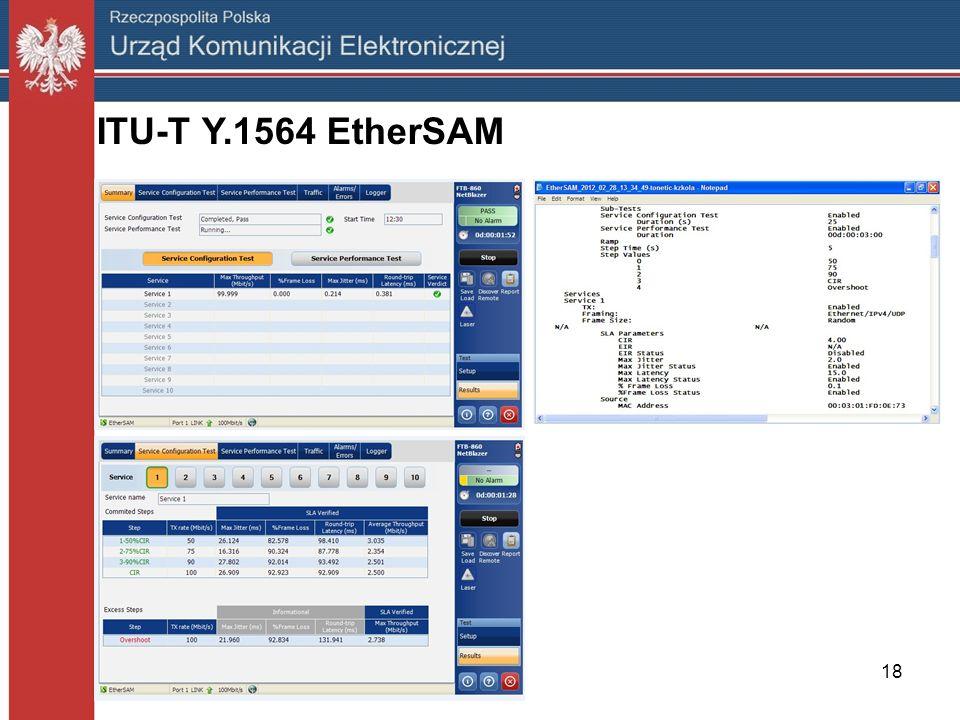 ITU-T Y.1564 EtherSAM