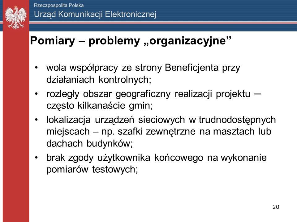 """Pomiary – problemy """"organizacyjne"""