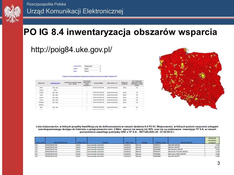 PO IG 8.4 inwentaryzacja obszarów wsparcia