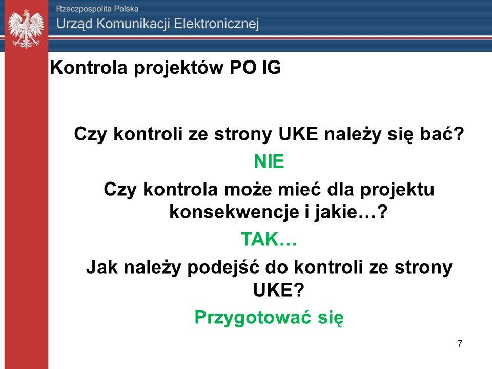 Kontrola projektów PO IG