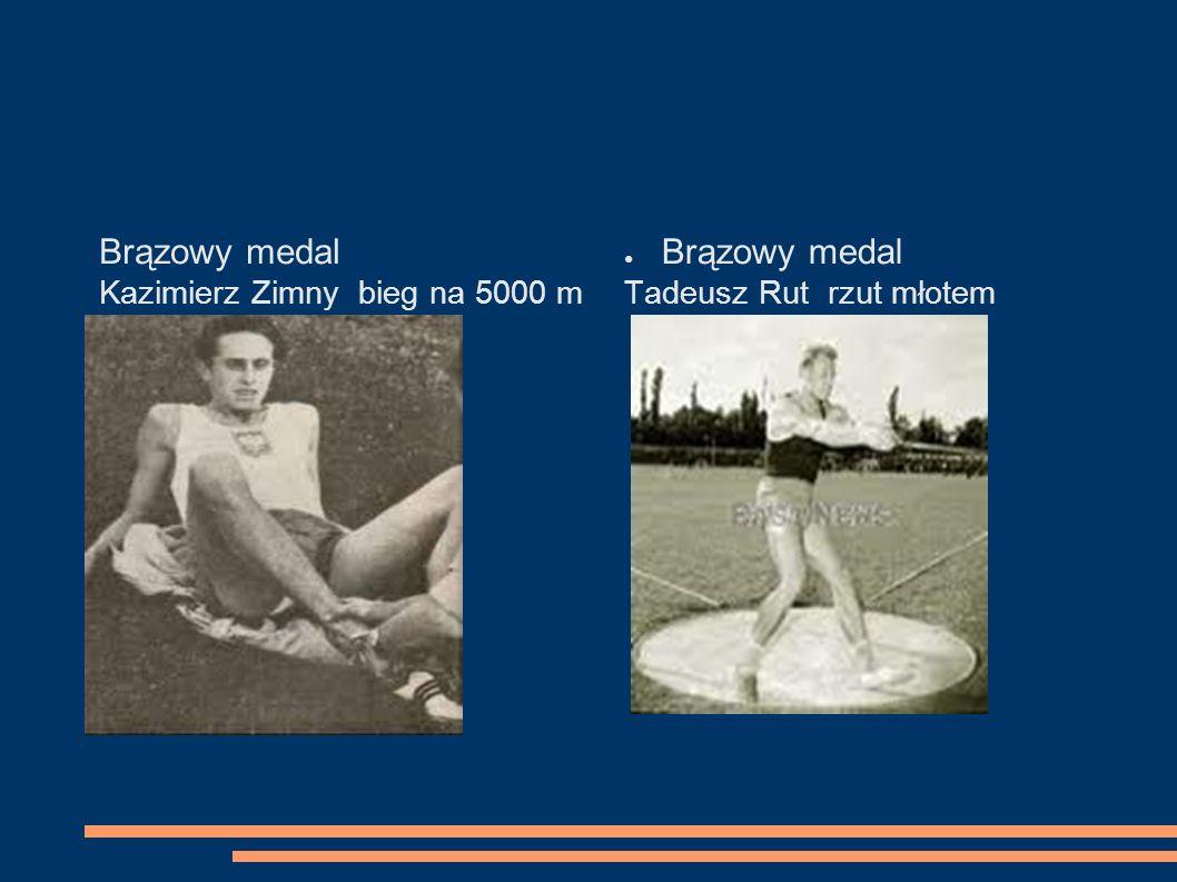 Brązowy medal Brązowy medal Kazimierz Zimny bieg na 5000 m