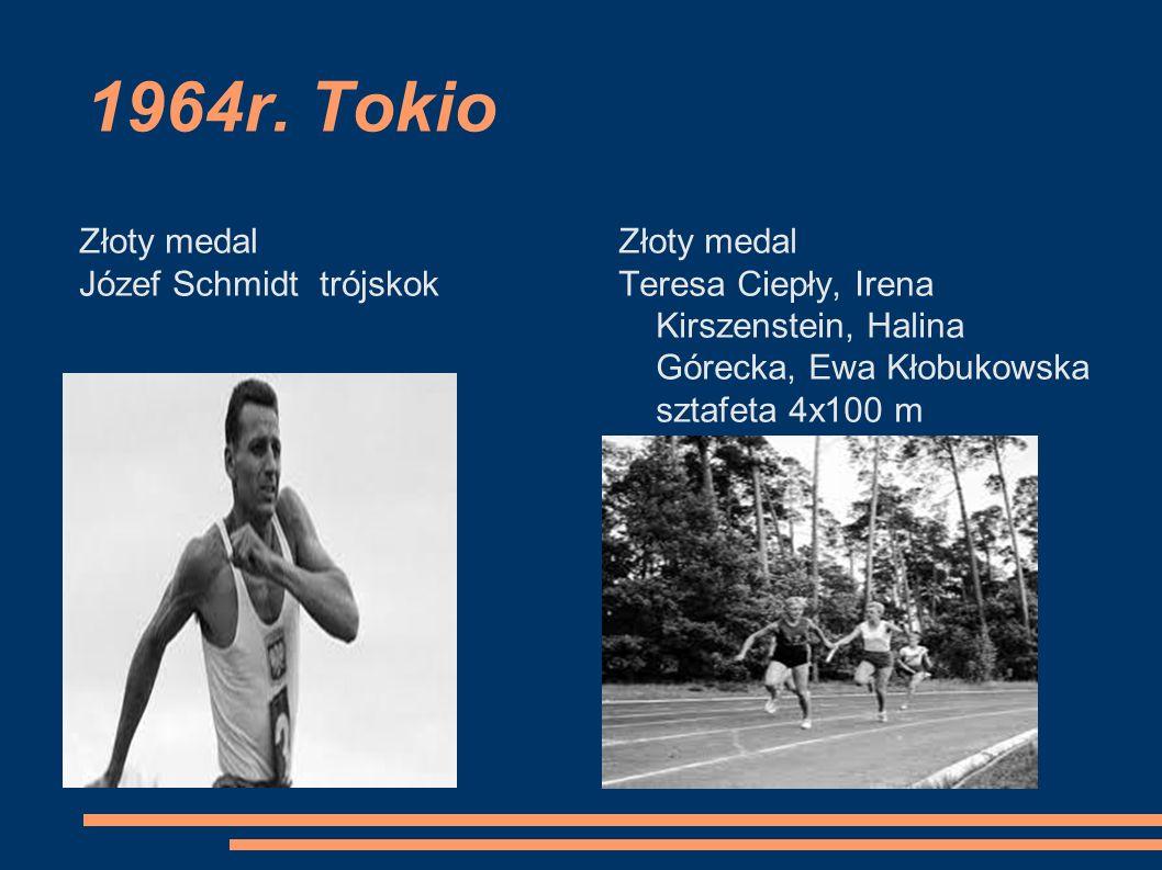1964r. Tokio Złoty medal Józef Schmidt trójskok Złoty medal