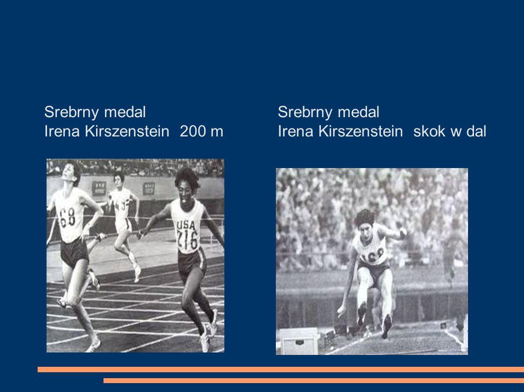 Srebrny medal Irena Kirszenstein 200 m Srebrny medal Irena Kirszenstein skok w dal