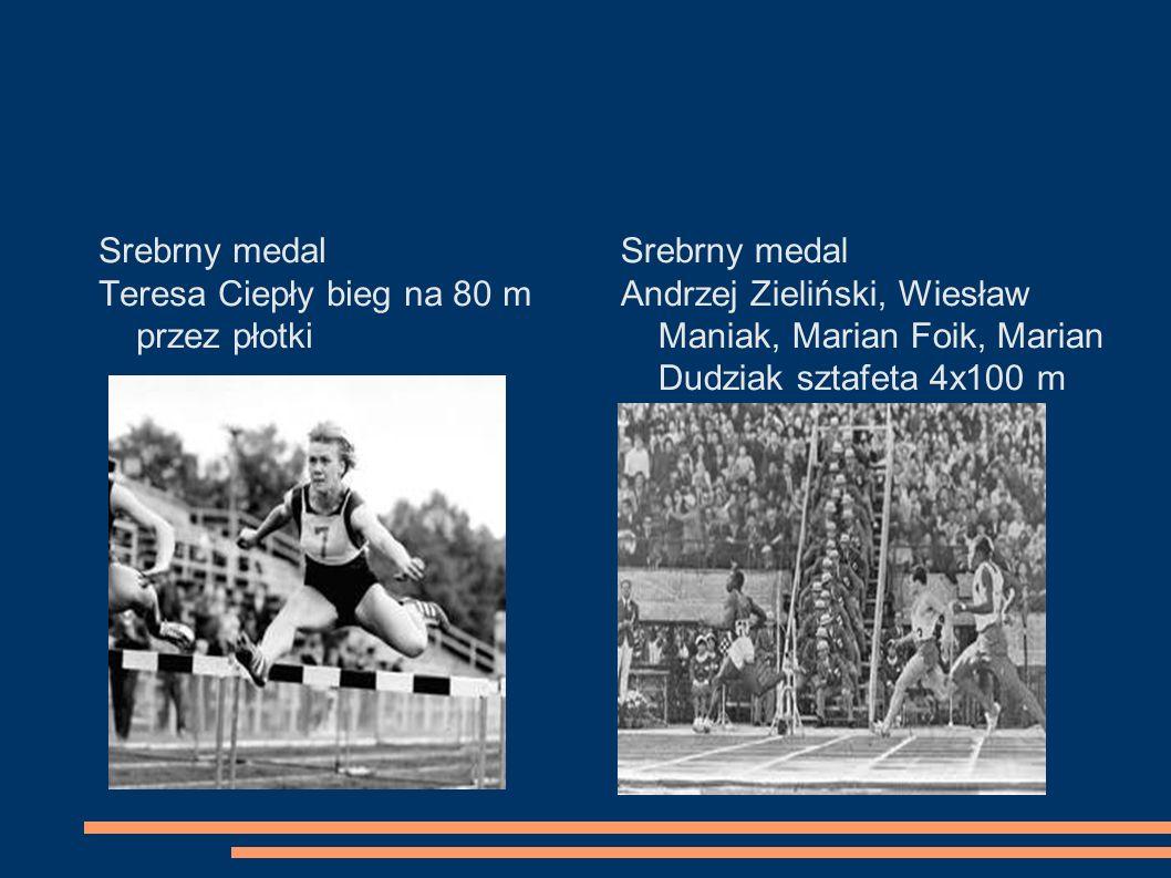 Srebrny medal Teresa Ciepły bieg na 80 m przez płotki. Srebrny medal.